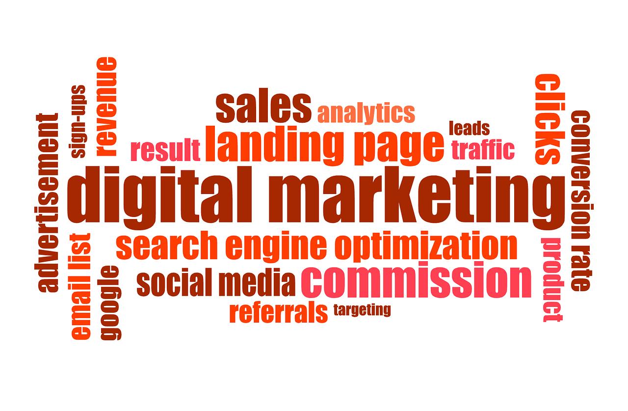 Digital marketing Community word cloud